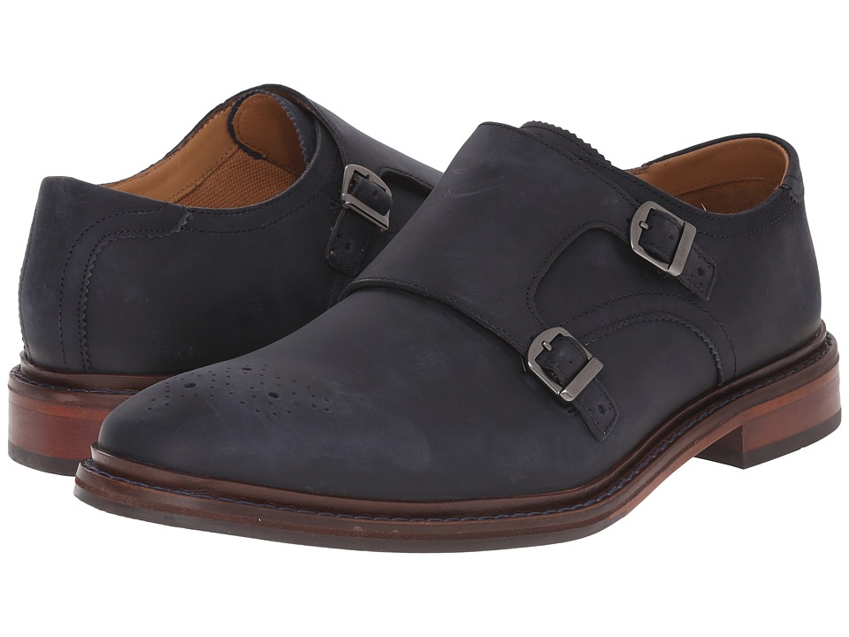 Cole Haan - Williams Welt Double Monk II (Navy Ink) Men's Monkstrap Shoes