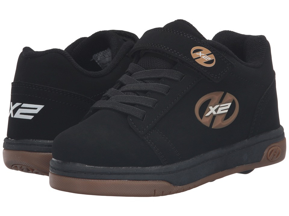 Heelys - Dual Up X2 Solid (Little Kid/Big Kid) (Black/Gum) Boys Shoes