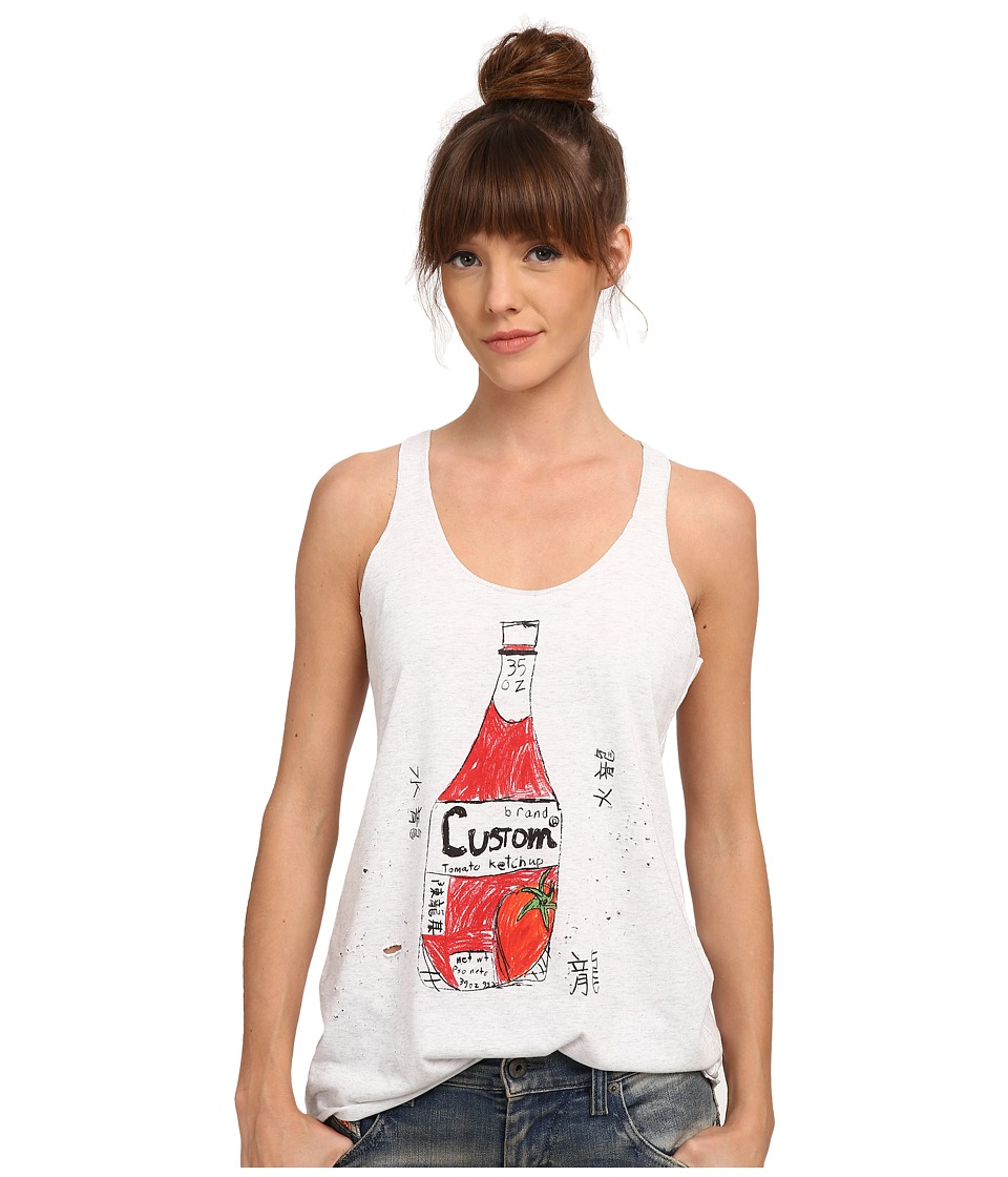 Custom Ketchup - Tank Top Ketchup Distressed (White) Women's Clothing