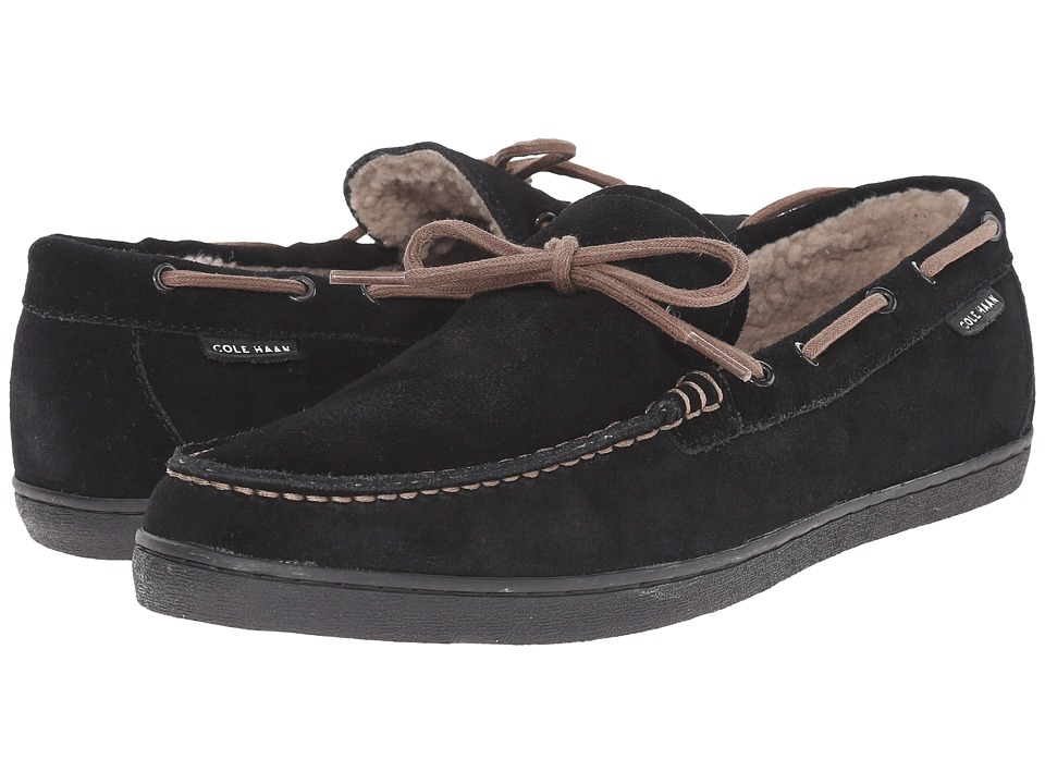Cole Haan - Nantucket Camp Moc Shearling (Black Suede) Men