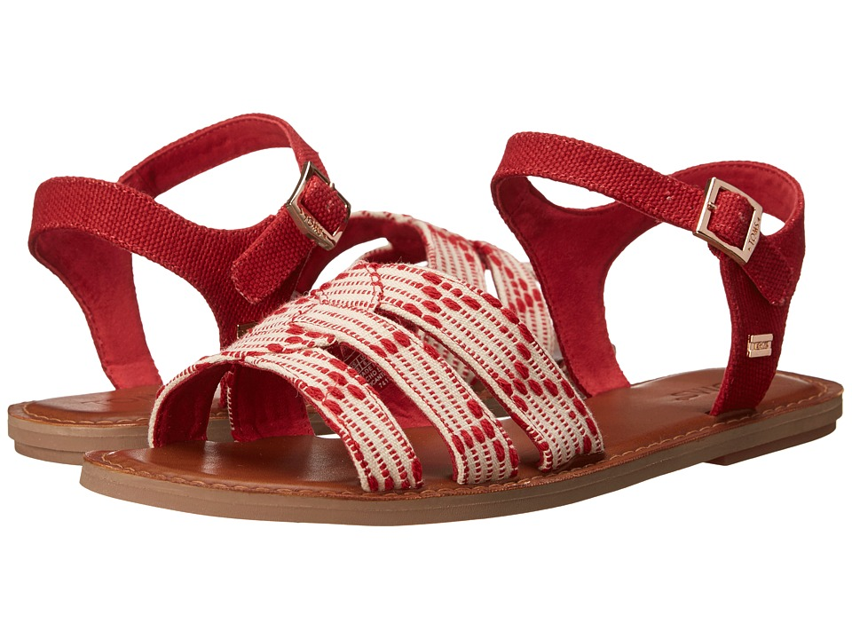 TOMS - Zoe Sandal (Scarlet Multi Cross Stitch) Women's Sandals