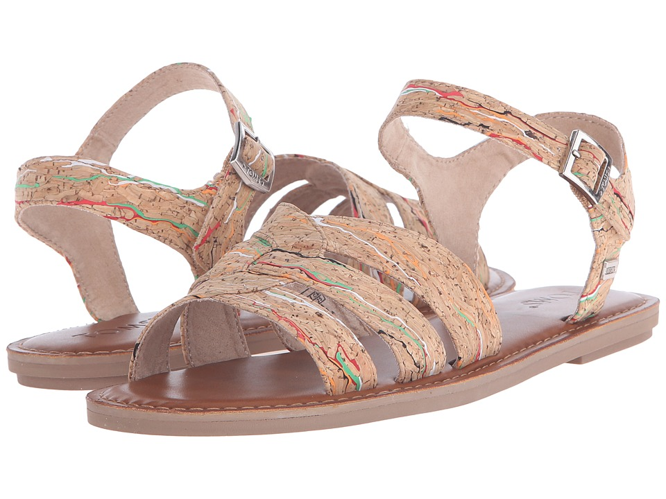 TOMS - Zoe Sandal (Multi Cork) Women's Sandals