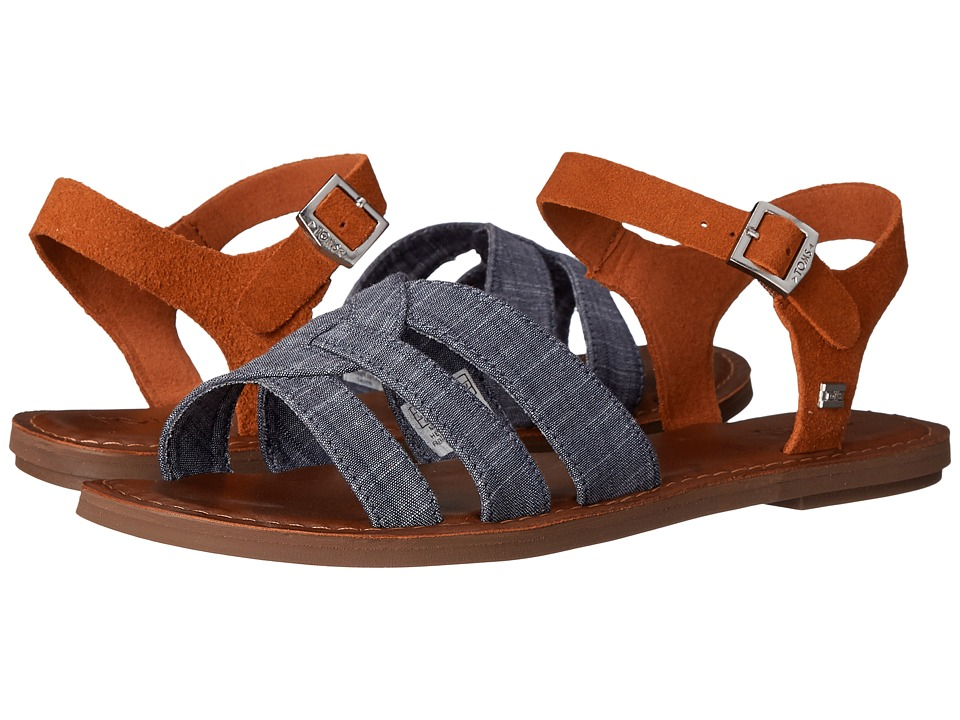 TOMS - Zoe Sandal (Chambray Brown Suede) Women's Sandals