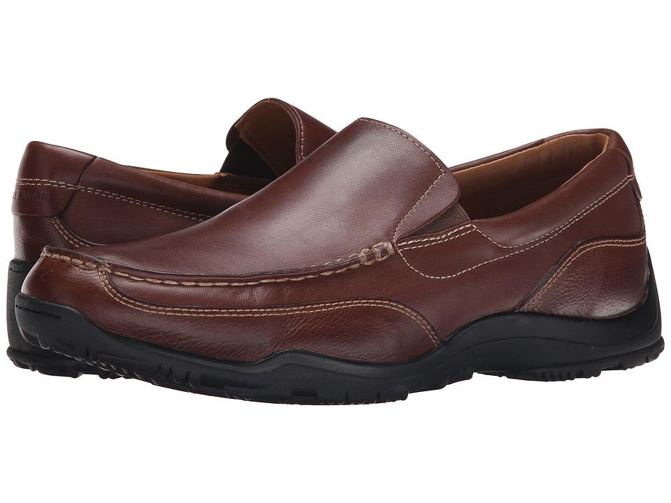 Cole Haan - Hughes Grand Slip-On II (Chestnut/Dark Roast) Men's Shoes
