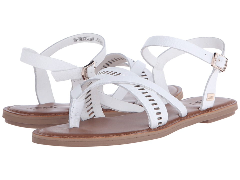TOMS - Lexie Sandal (White Leather) Women's Sandals