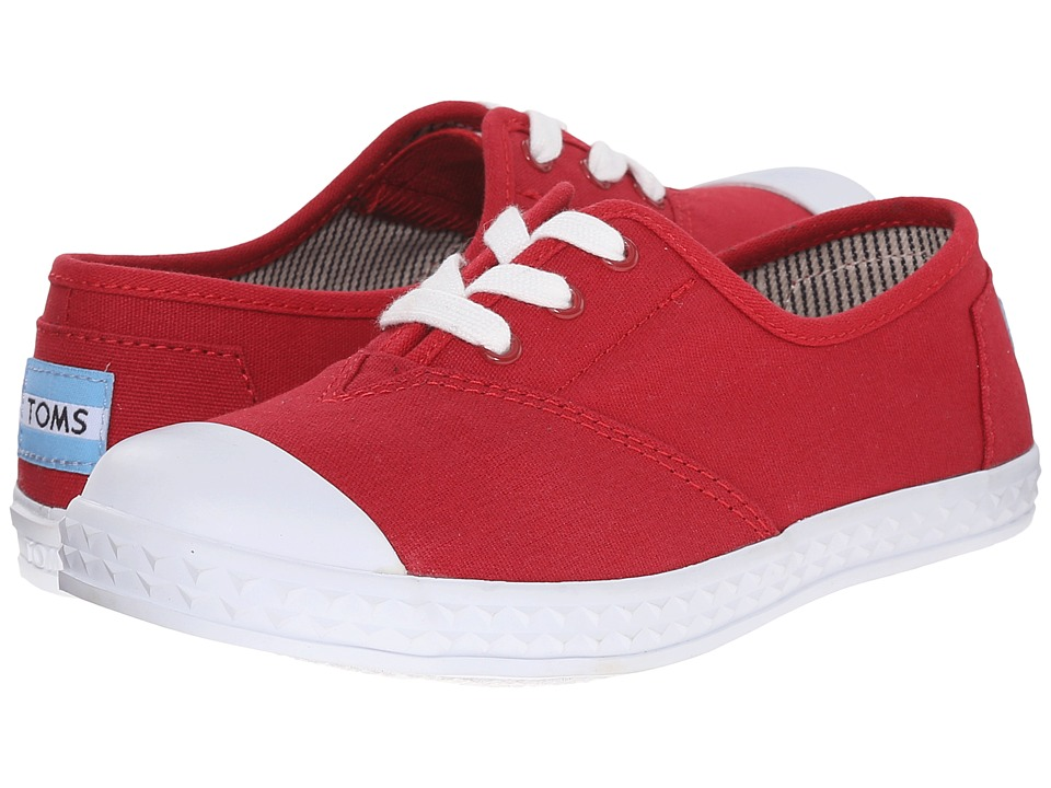 TOMS Kids - Zuma Sneaker (Little Kid/Big Kid) (Red Canvas) Kids Shoes