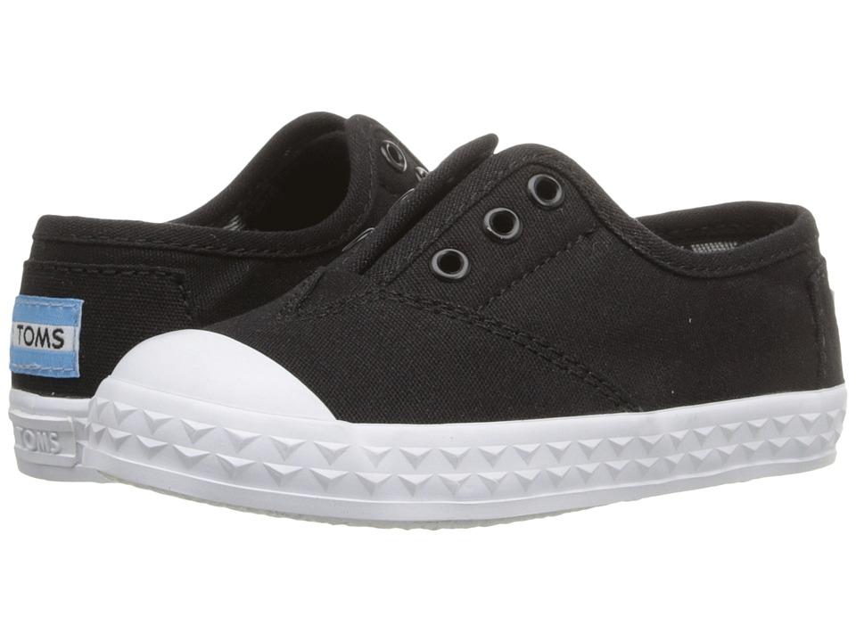 TOMS Kids - Zuma Sneaker (Infant/Toddler/Little Kid) (Black Canvas) Kids Shoes