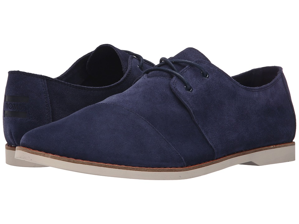 TOMS - Hensley Lace-Up (Navy Suede) Men's Lace up casual Shoes