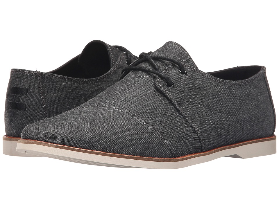TOMS - Hensley Lace-Up (Black Chambray) Men's Lace up casual Shoes