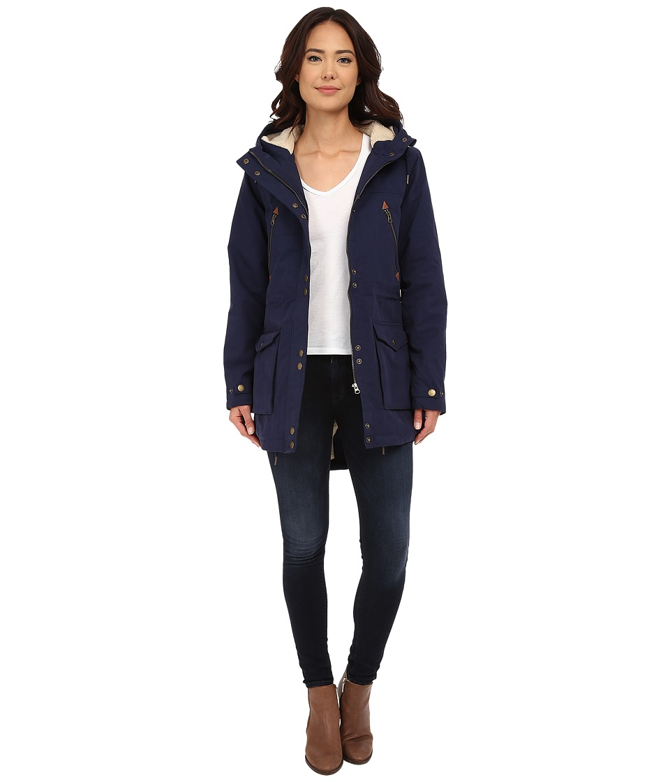 Volcom - Walk On By Parka (Midnight Blue) Women's Coat
