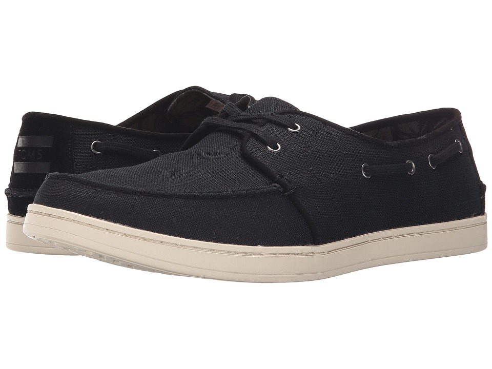 TOMS - Culver Lace-Up (Black Burlap) Men's Lace up casual Shoes