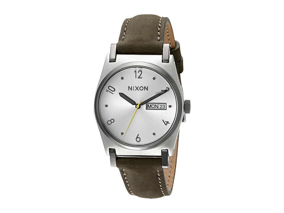Nixon - Jane Leather (Silver/Surplus) Watches
