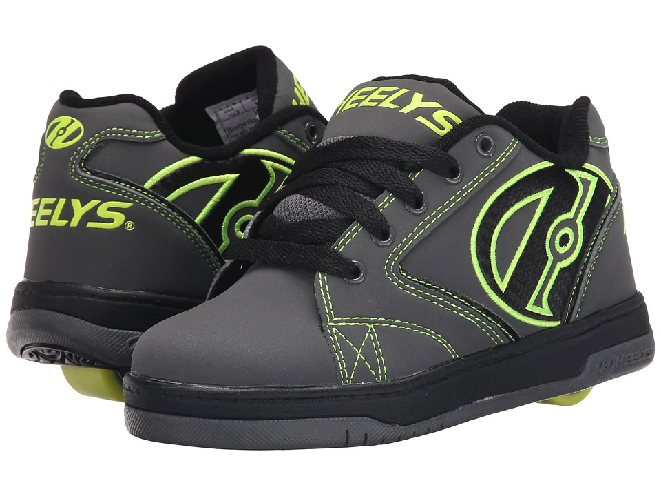 Heelys Propel 2.0 (Little Kid/Big Kid/Adult) (Grey/Black/Bright Yellow) Boys Shoes
