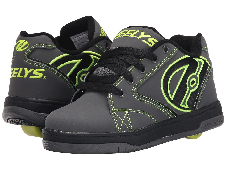 Heelys - Propel 2.0 (Little Kid/Big Kid/Adult) (Grey/Black/Bright Yellow) Boys Shoes