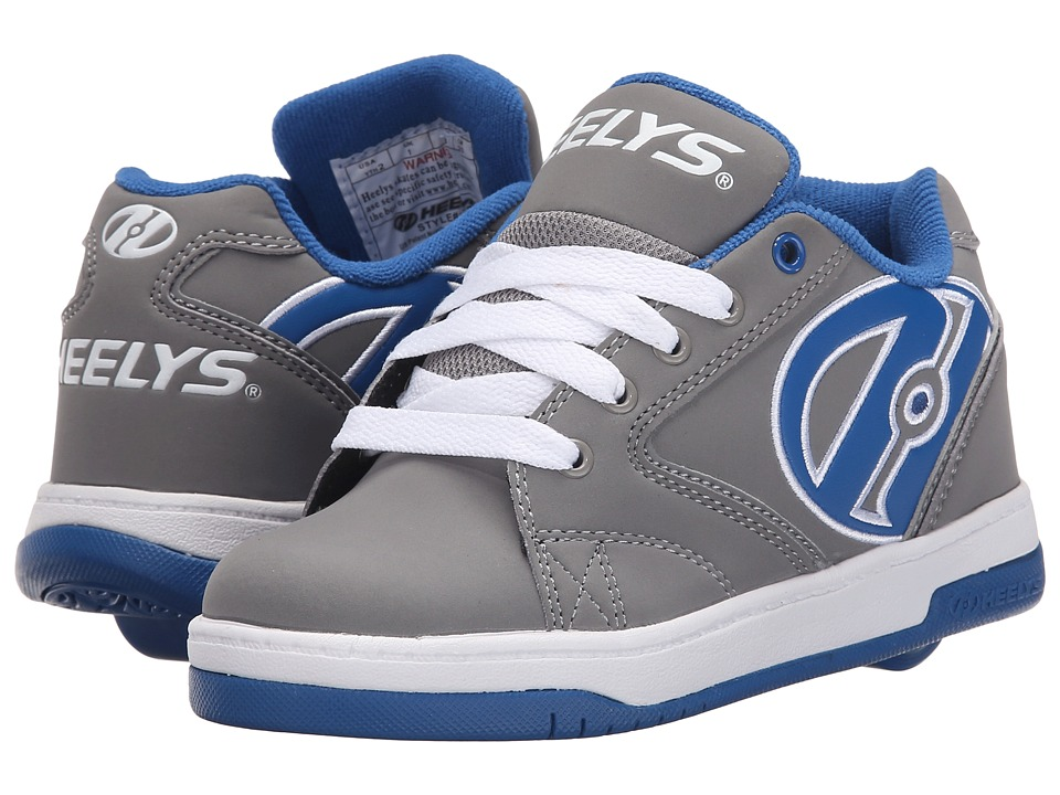 Heelys - Propel 2.0 (Little Kid/Big Kid/Adult) (Grey/Royal/White) Boys Shoes
