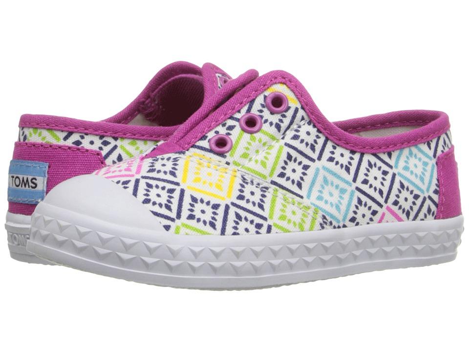 TOMS Kids - Zuma Sneaker (Infant/Toddler/Little Kid) (Pink Canvas Vintage Tiles) Kids Shoes