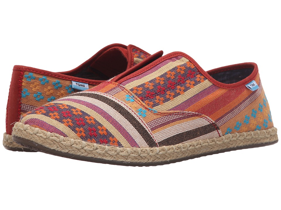 TOMS - Palmera Slip-On (Cayenne Multi Stripe) Women's Flat Shoes