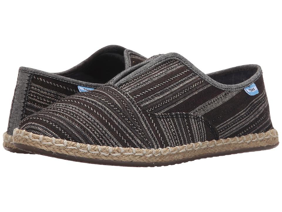 TOMS - Palmera Slip-On (Black Metallic Stripe) Women's Flat Shoes