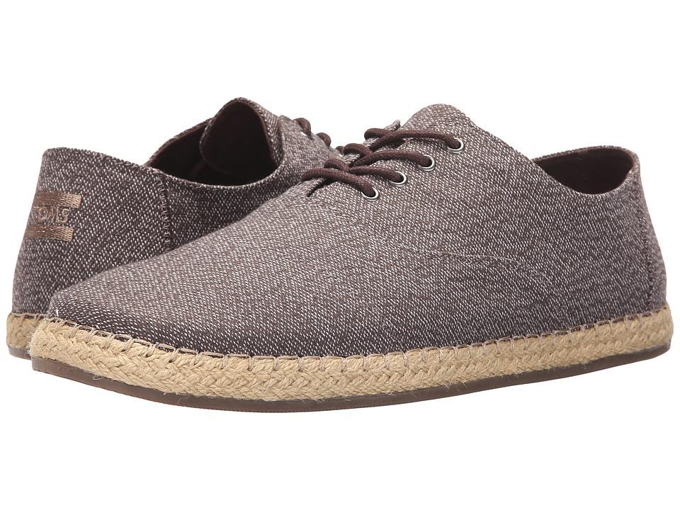 TOMS - Camino Lace-Up (Dark Brown Woven) Men's Lace up casual Shoes