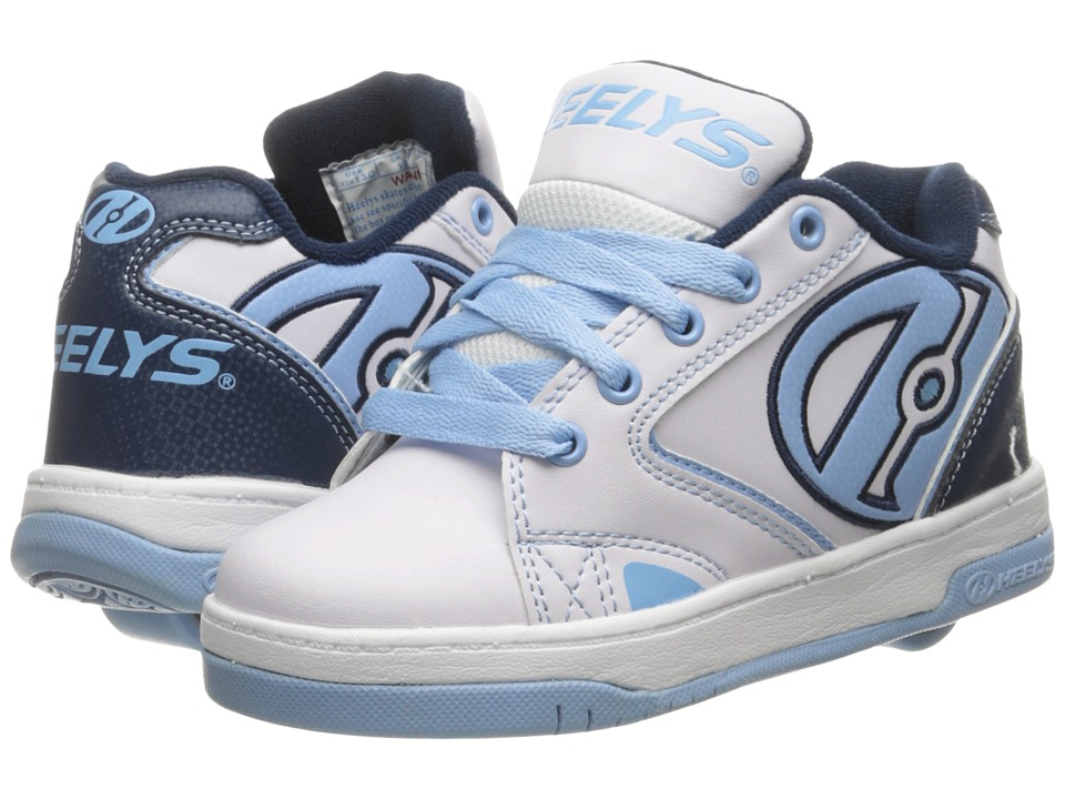 Heelys - Propel 2.0 (Little Kid/Big Kid/Adult) (White/Navy/Powder Blue) Girls Shoes