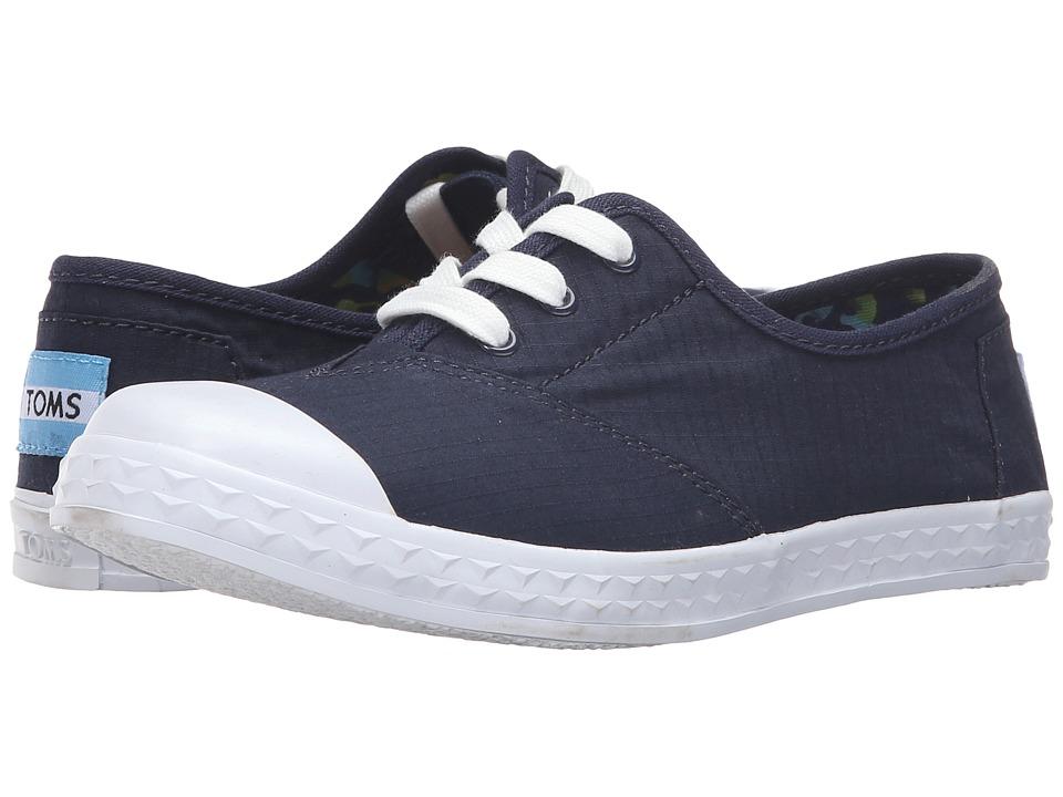 TOMS Kids - Zuma Sneaker (Little Kid/Big Kid) (Navy Cotton Ripstop) Kids Shoes