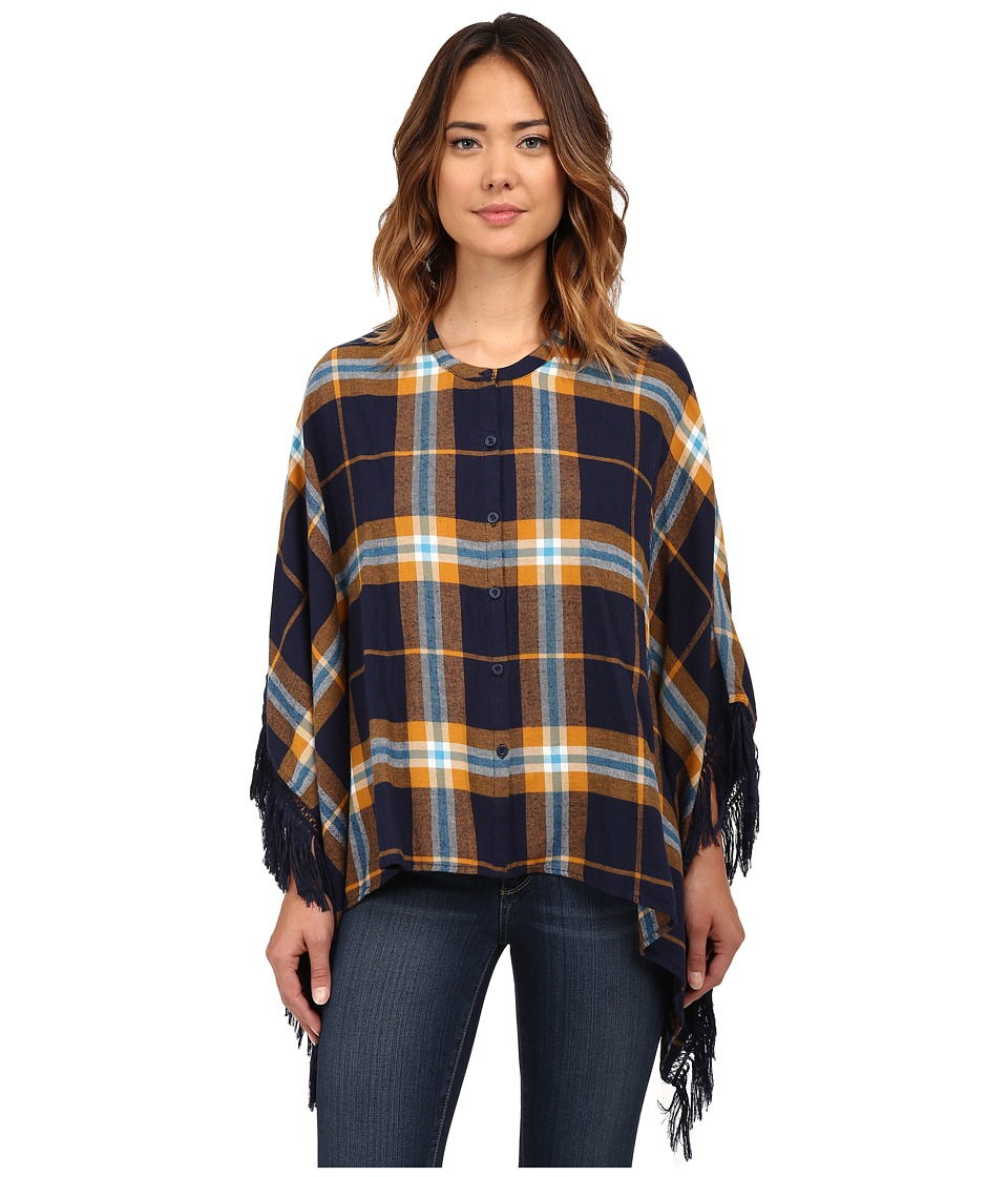 Volcom - Alpaca Poncho (Midnight Blue) Women
