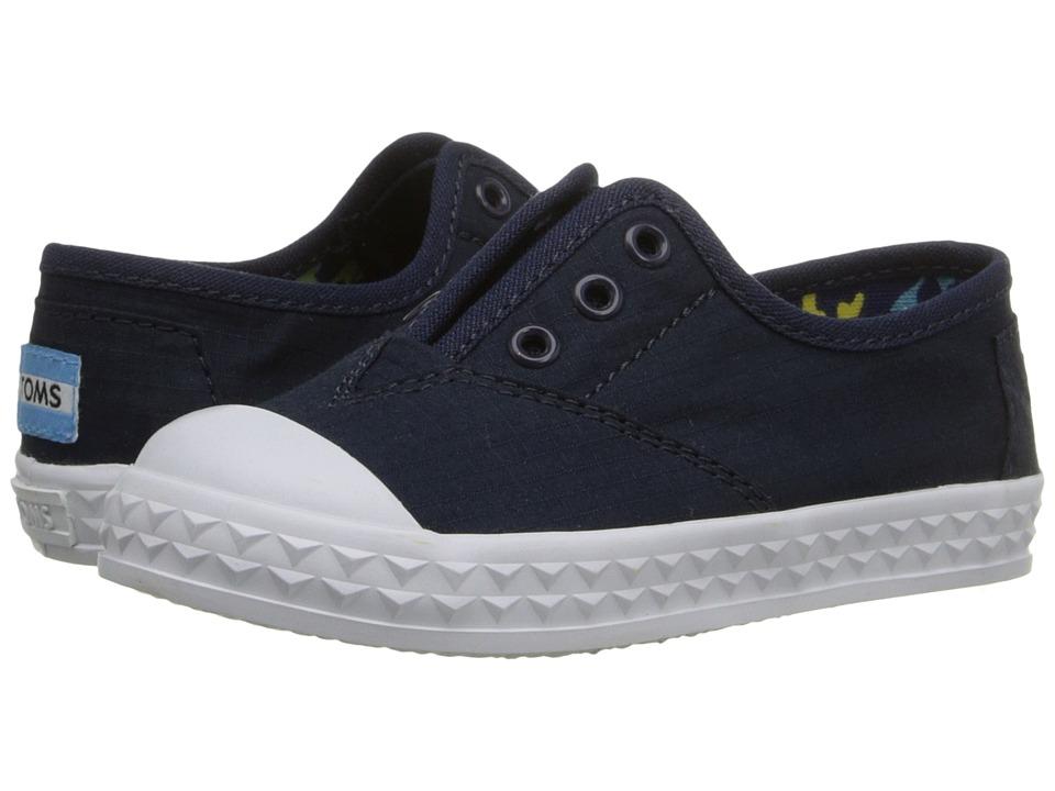 TOMS Kids - Zuma Sneaker (Infant/Toddler/Little Kid) (Navy Cotton Ripstop) Kids Shoes