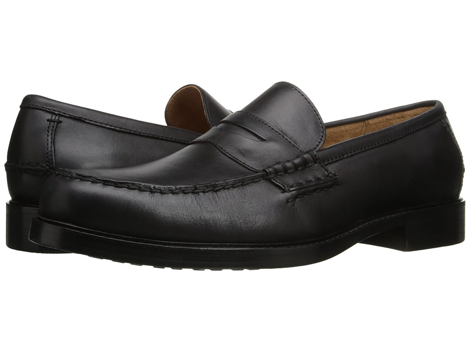 Polo Ralph Lauren - Dustan (Black) Men's 1-2 inch heel Shoes