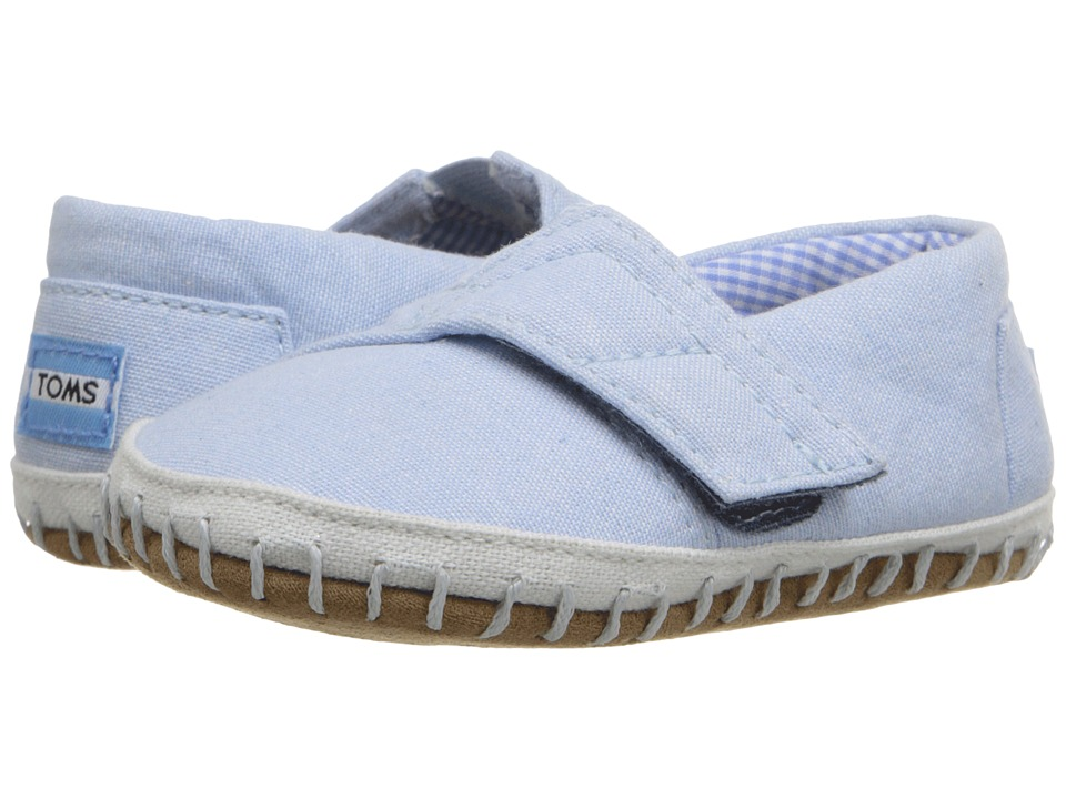 TOMS Kids Crib Alparagata (Infant/Toddler) (Light Blue Chambray) Kid's Shoes