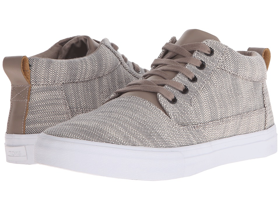 TOMS Valdez Mid (Grey Textured Woven/Leather) Men
