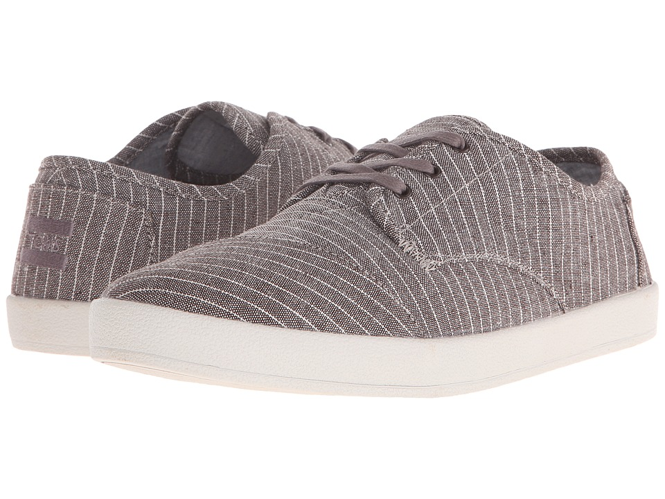TOMS - Paseo (Brown Distressed Stripe) Men's Lace up casual Shoes