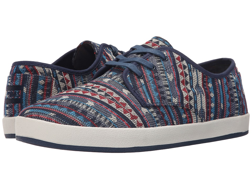 TOMS - Paseo (Multi Blue Cultural Woven) Men's Lace up casual Shoes