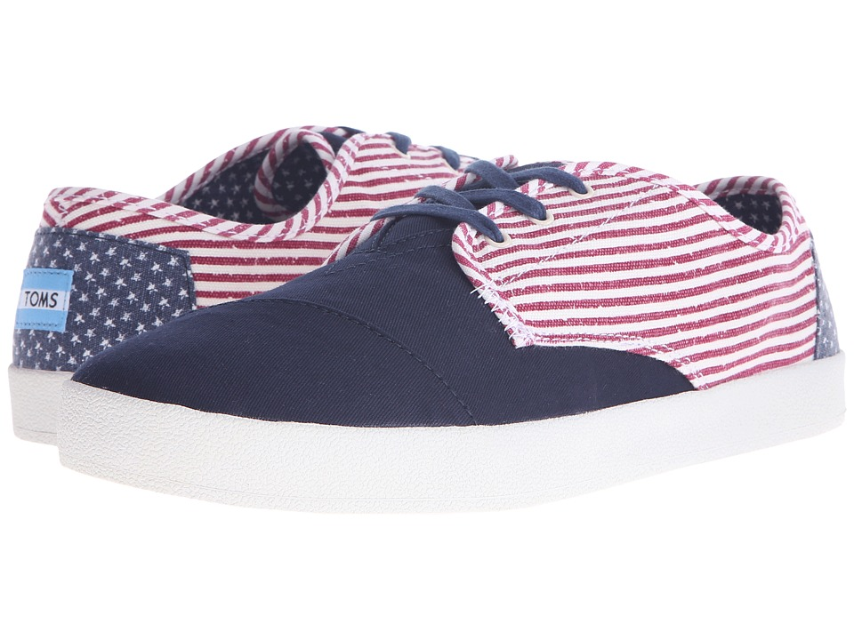 TOMS - Paseo (Americana Canvas Flag) Men's Lace up casual Shoes