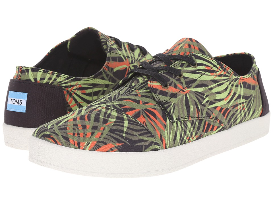 TOMS - Paseo (Olive/Orange Multi Palm Print) Men's Lace up casual Shoes