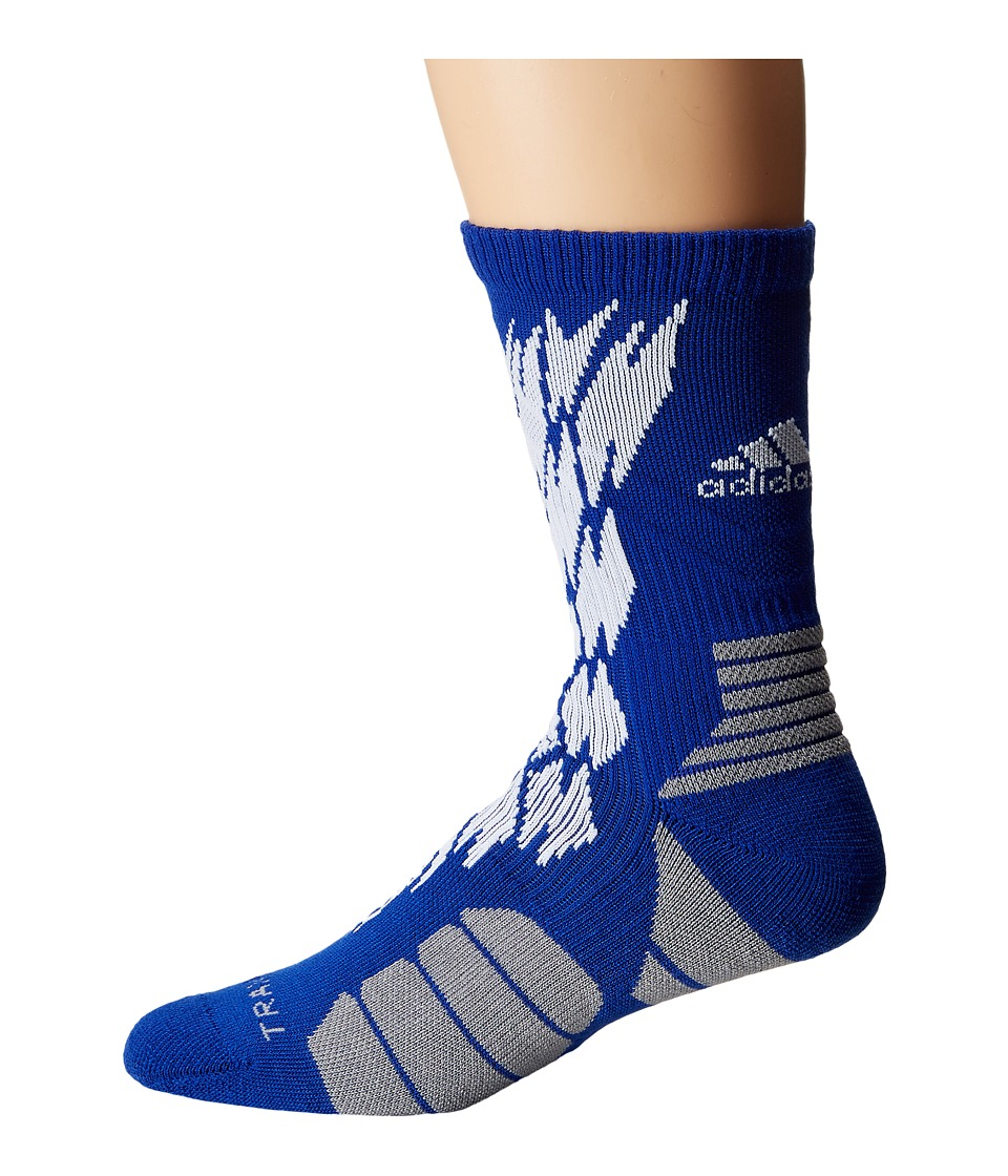 adidas - Traxion Impact Shockweb Crew Socks (Bold Blue/White/Light Onix) Crew Cut Socks Shoes