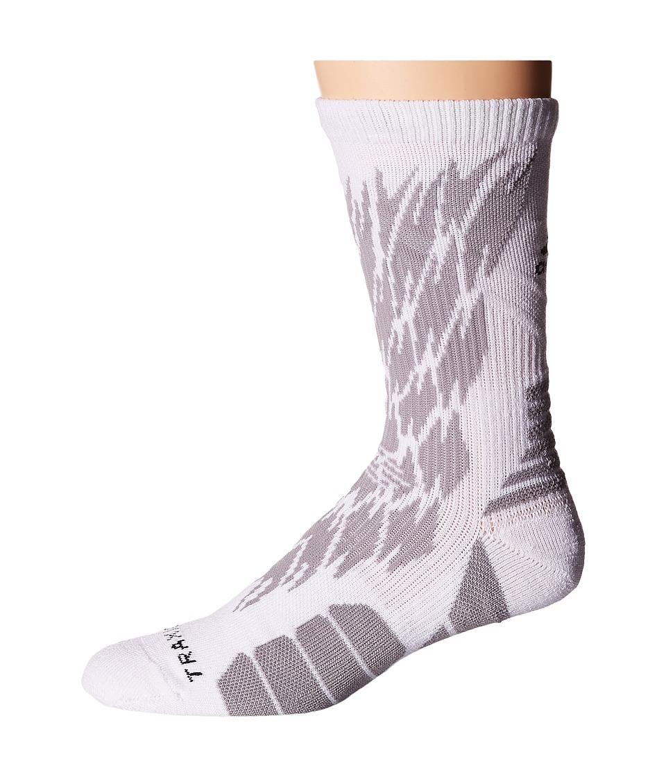 adidas - Traxion Impact Shockweb Crew Socks (White/Light Onix/Black) Crew Cut Socks Shoes