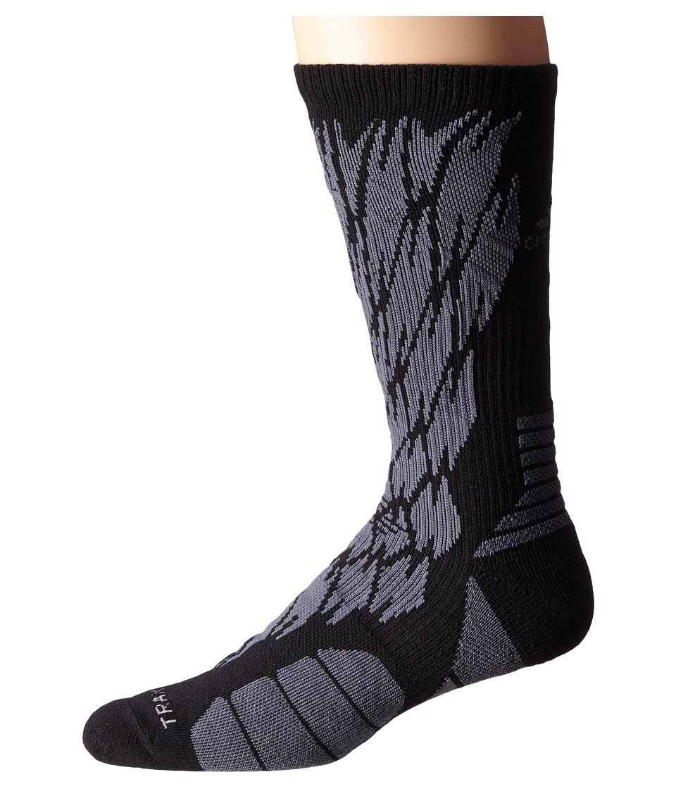 adidas - Traxion Impact Shockweb Crew Socks (Black/Onix) Crew Cut Socks Shoes