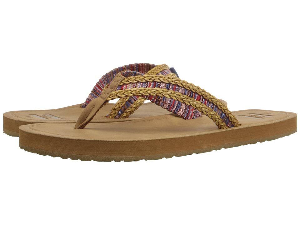 TOMS - Solana Flip Flop (Sand/Pink Mix Textile) Women's Sandals