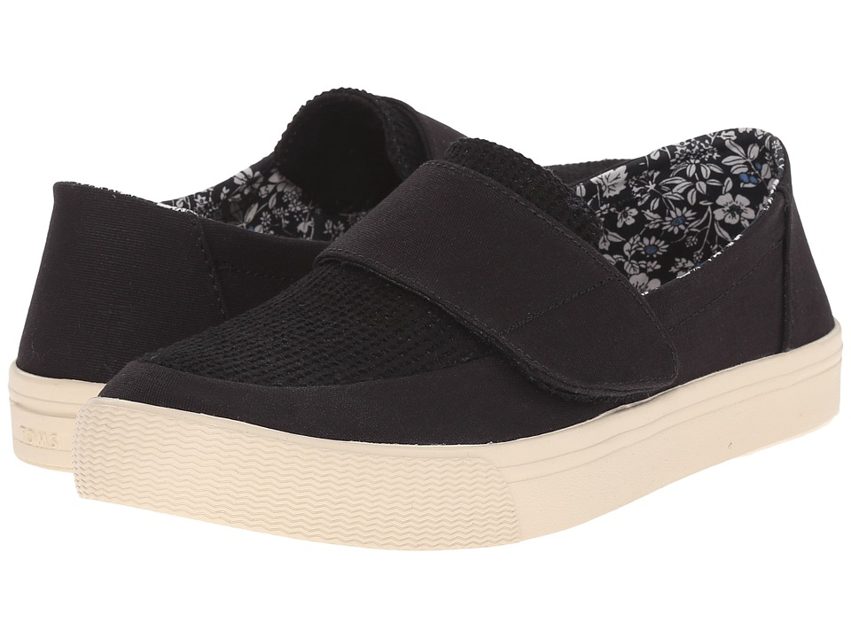 TOMS - Altair Slip-On (Black Canvas) Women's Slip on Shoes