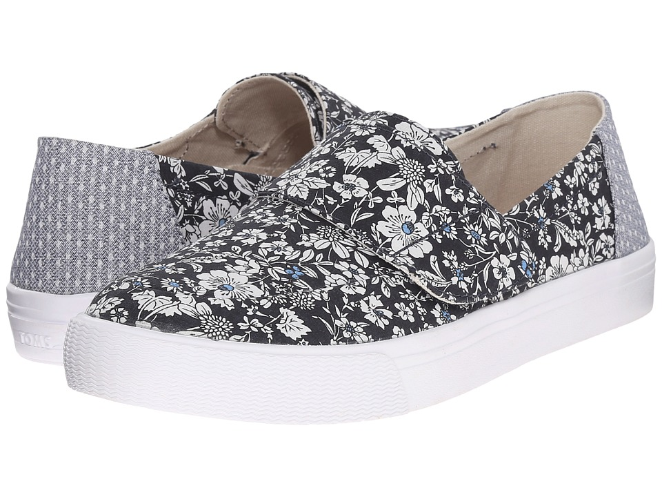 TOMS - Altair Slip-On (Navy Floral) Women's Slip on Shoes