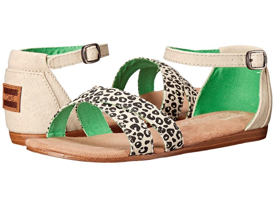 TOMS Kids - Correa Sandal (Little Kid/Big Kid) (Cheetah Metallic Linen) Girls Shoes