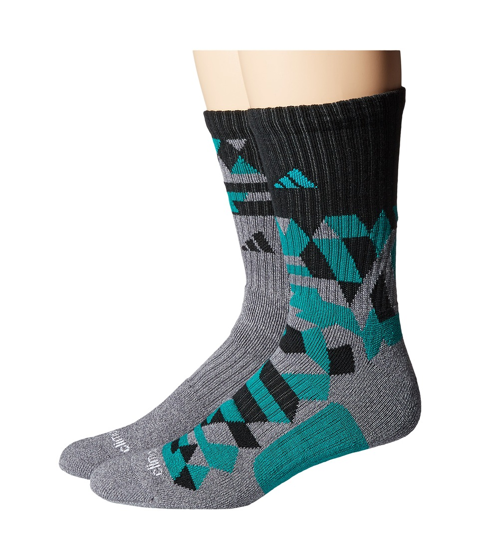 adidas - Energy Camo Crew 2-Pack Socks (Onix/Light Onix Marl/EQT Green/Black) Men's Crew Cut Socks Shoes
