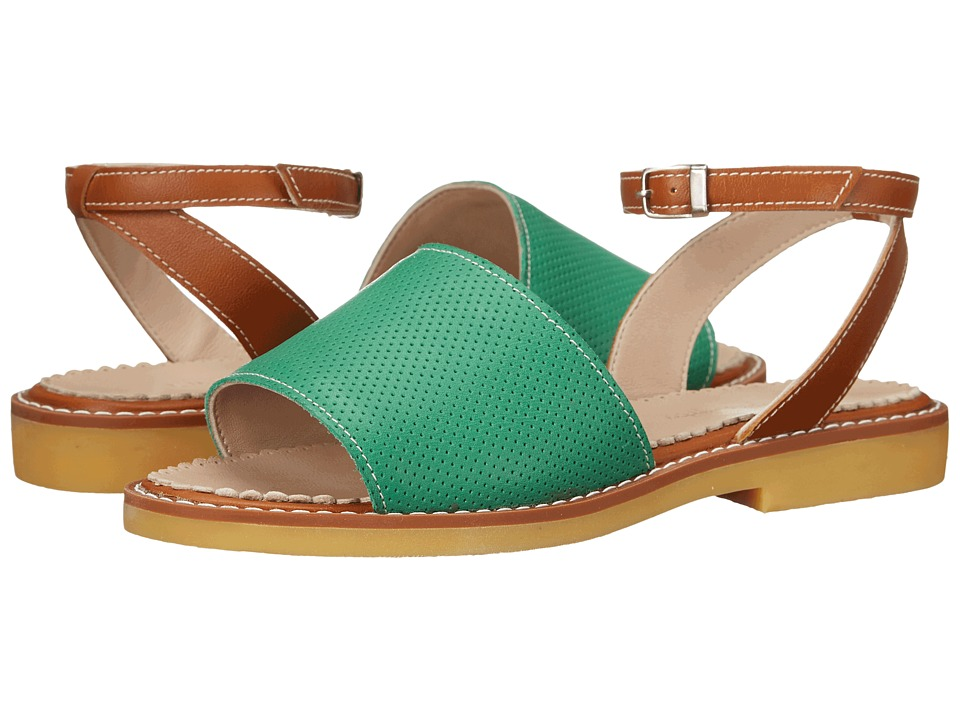 Elephantito Olivia Sandal (Toddler/Little Kid/Big Kid) (Perforated L. Green) Girls Shoes