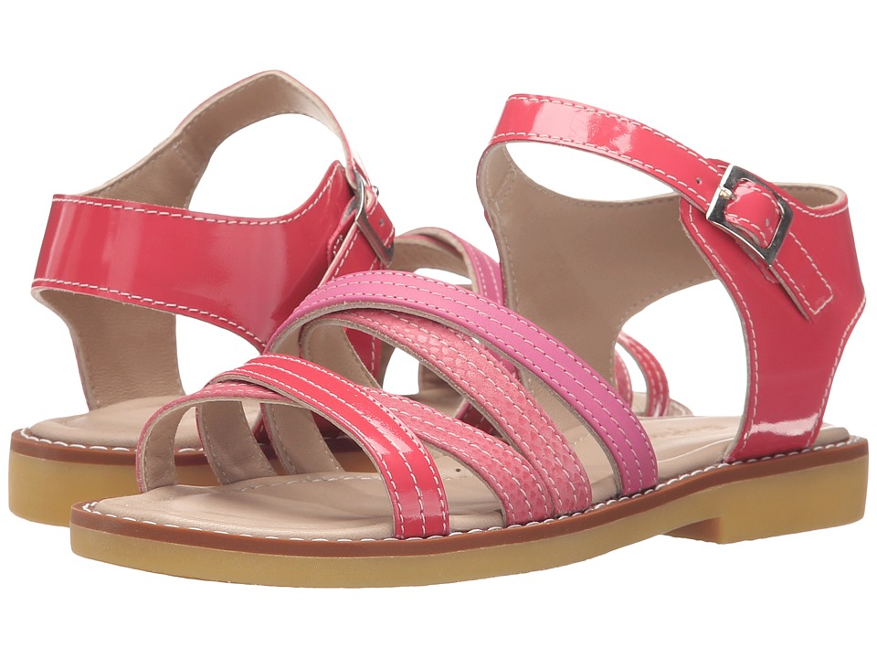 Elephantito - Crossed Sandal (Toddler/Little Kid/Big Kid) (PTN Hot Pink) Girls Shoes