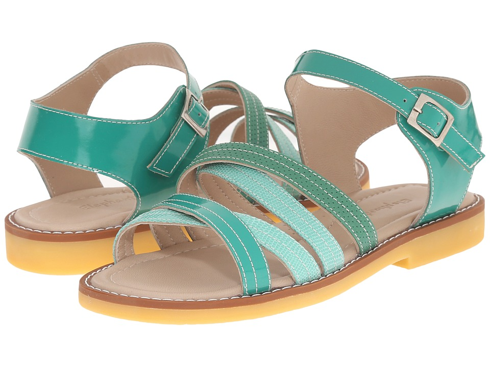 Elephantito - Crossed Sandal (Toddler/Little Kid/Big Kid) (Green) Girls Shoes