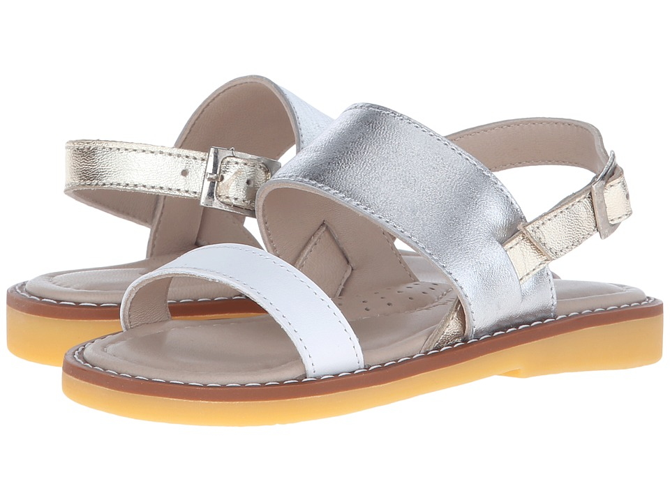 Elephantito - Mikonos Sandal (Toddler/Little Kid/Big Kid) (PTN Silver) Girls Shoes