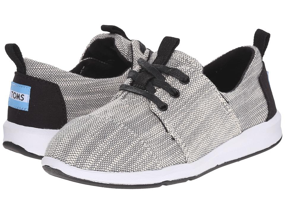 TOMS Kids - Del Rey Sneaker (Little Kid/Big Kid) (Grey Textured Woven) Kids Shoes