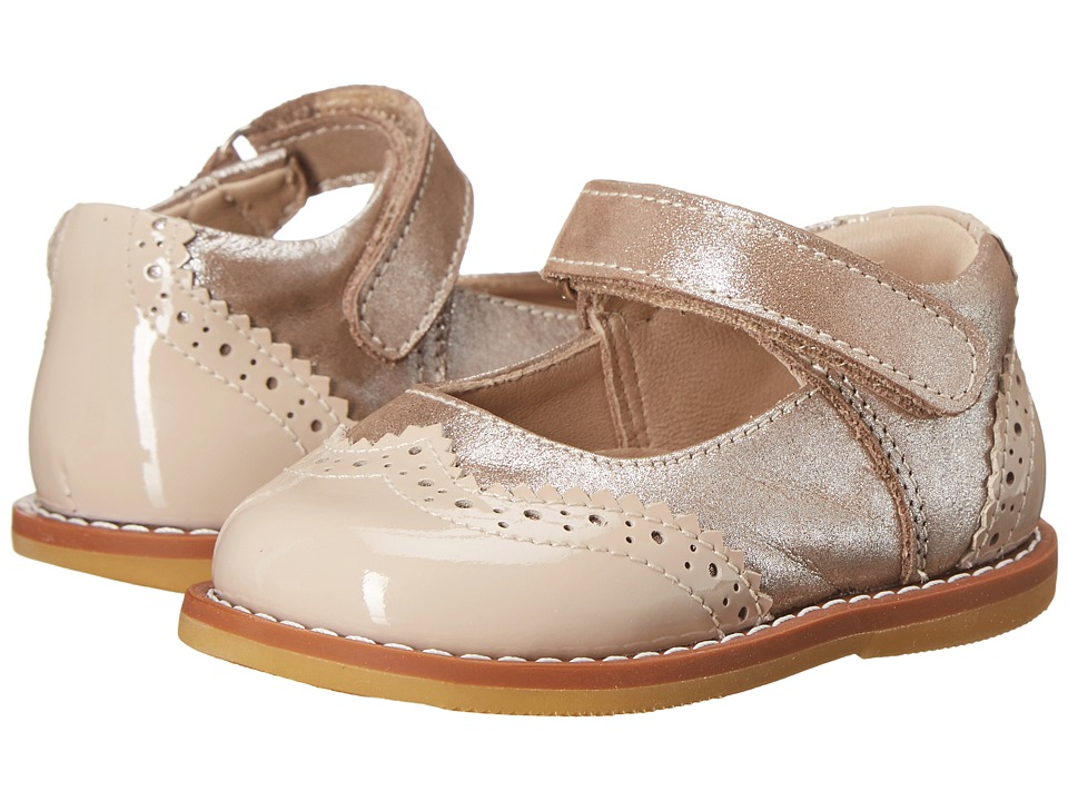 Elephantito - Spectator Mary Jane (Infant/Toddler) (Met. Suede Blush) Girls Shoes