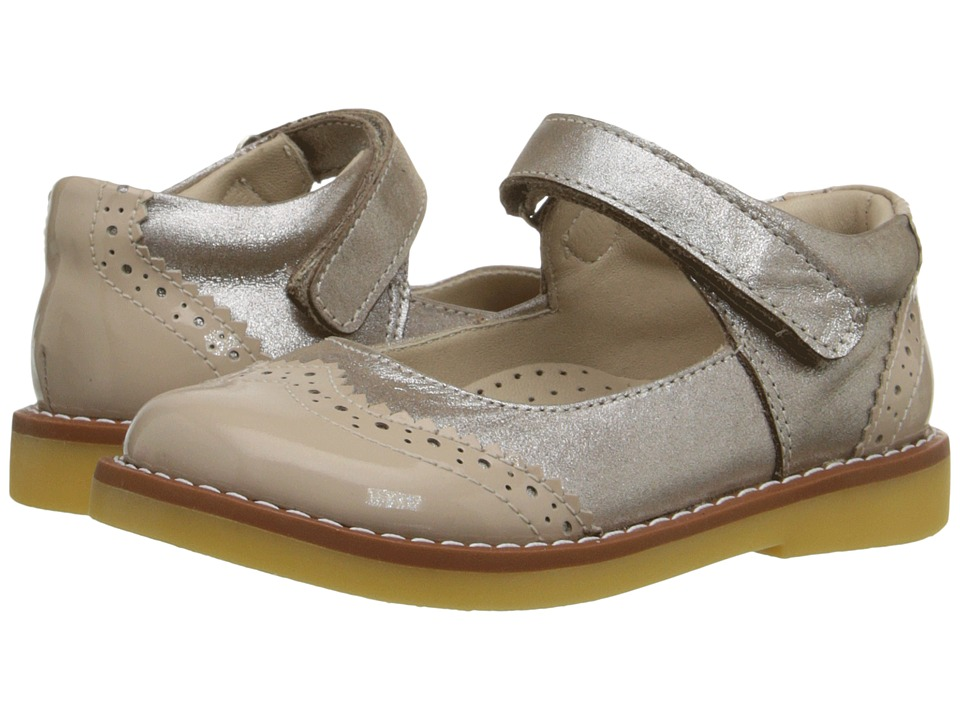 Elephantito - Spectator Mary Jane (Toddler/Little Kid/Big Kid) (Met. Suede Blush) Girls Shoes