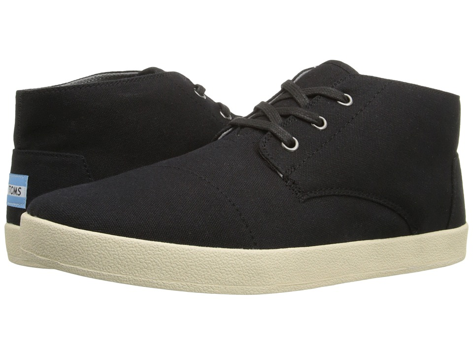 TOMS - Paseo Mid (Black Canvas) Men's Lace up casual Shoes